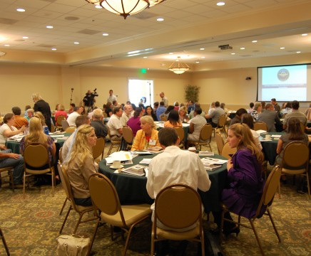 More than 400 new participants were accepted into the 2011 Journey Leadership Development program at NAVAIR. Orientation was held July 14 at Patuxent River Naval Air Station, Md. (U.S. Navy photo)