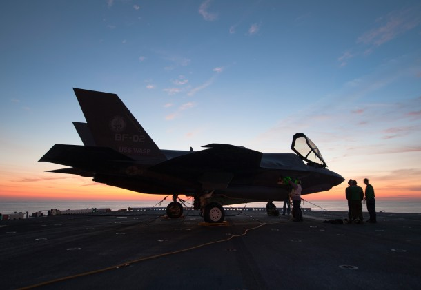 F-35B Joint Strike Fighter sunset
