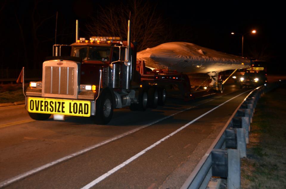 X-47B Arrives at Pax L...X 47b At Night