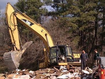 Great Mills houses demolished