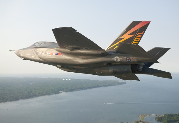 F-35B JSF over Pax River
