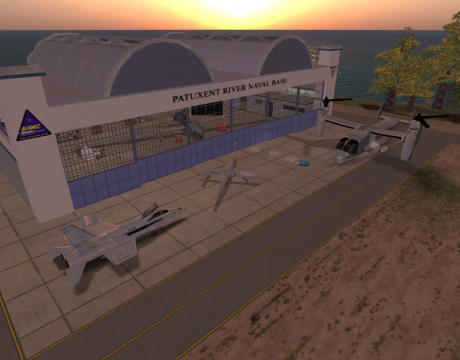 virtual pax river in second life