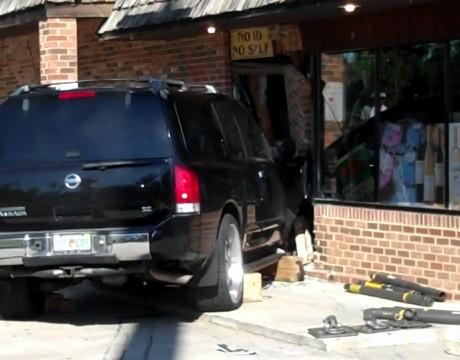 SUV Crashes Into International Beverage