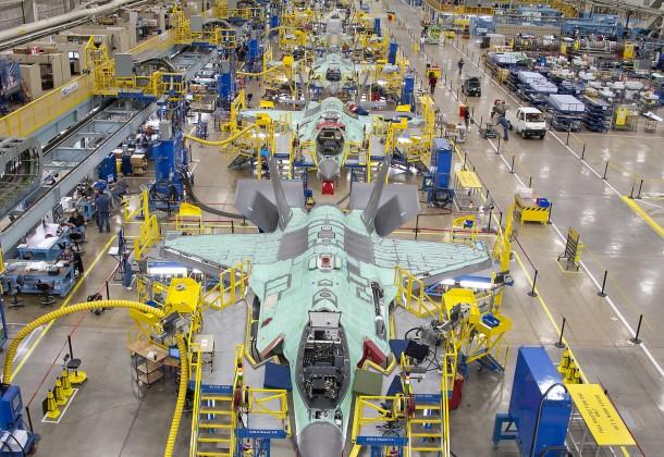 F-35 JSF assembly line