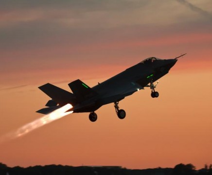 F-35C JSF night takeoff