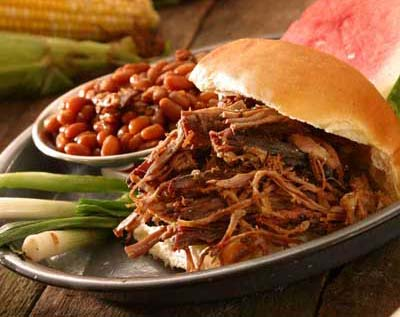 barbecue pit beef sandwich