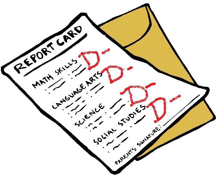 F On A Report Card Report card  F Report Card