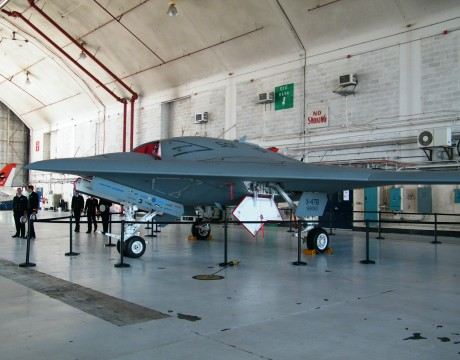 X-47B UCAS-D in hangar