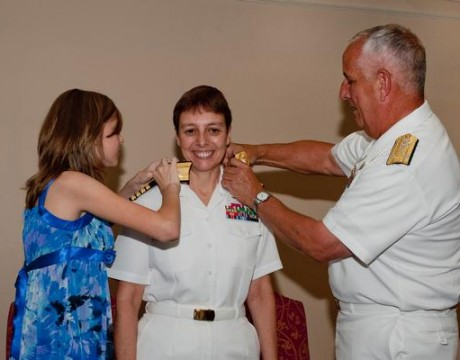 "Rear Adm. Cindy ""CJ"" Jaynes pinning"