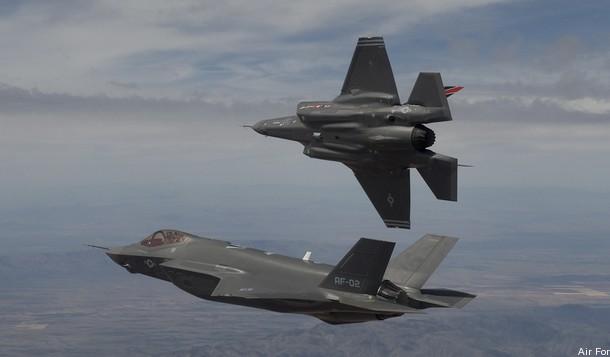 F-35s in Flight
