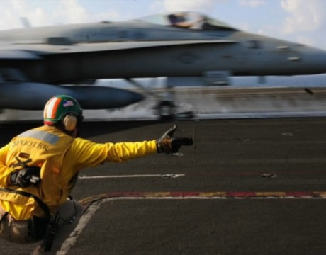 F/A-18 carrier catapult launch