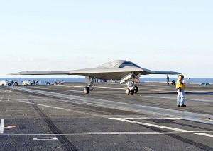 X-47B on the USS Truman