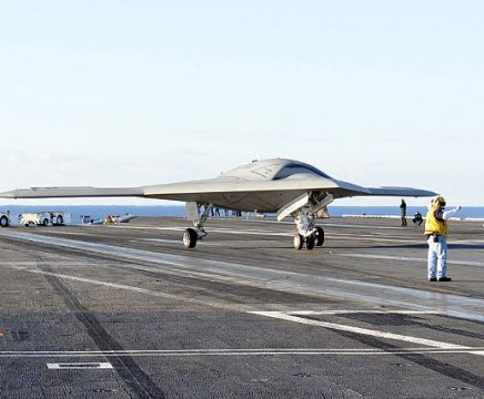 X-47B on the USS Truman