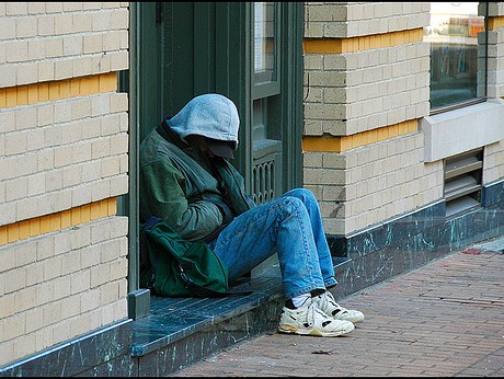 three oaks homeless and cold
