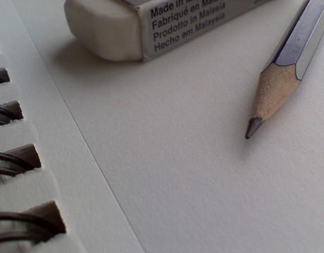 pencil eraser paper