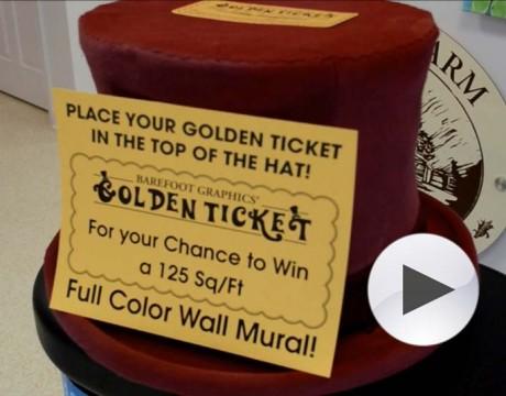 Barefoot Graphics Golden Ticket hat
