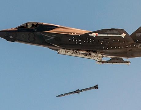 F-35B JSF AIM-120 release