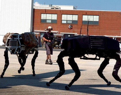 "Boston Dynamics' ""Big Dog"" robots being developed for DARPA"