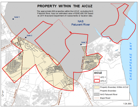 Map by St. Mary's County Dept. of Land Use and Growth Management