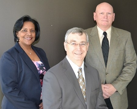 SMECO's newly appointed vice presidents, from left, Rose Pickeral-Brown, Eugene Bradford, and William Lawman.