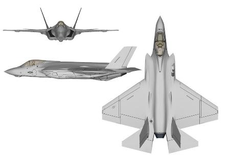 F-35C_three-view