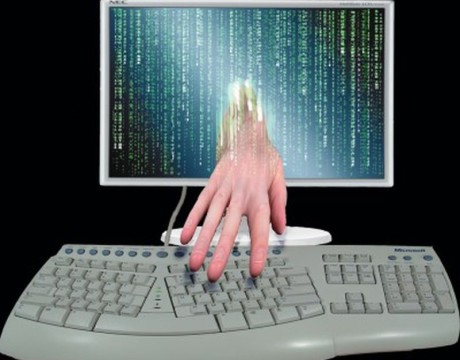 cybersecurity hand