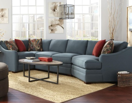 Raley's blue sectional