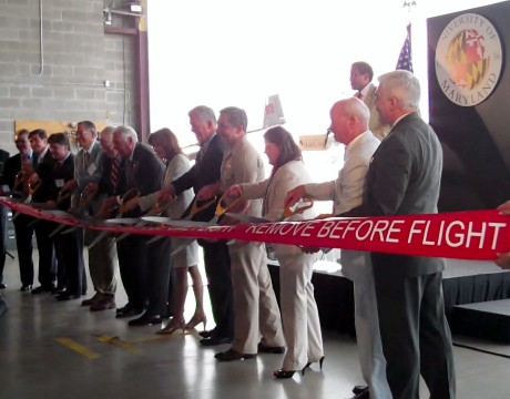 UAS Test Site Ribbon Cutting 2014