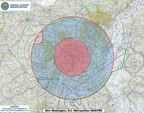 drones in restricted airspace