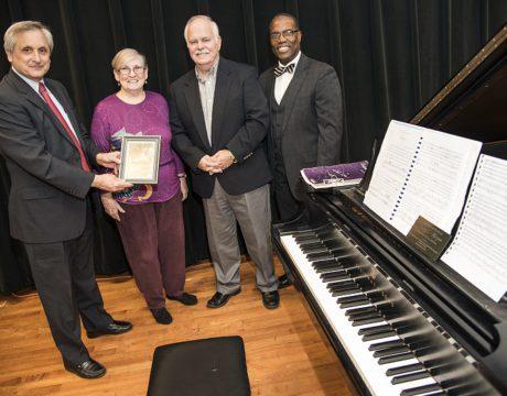 Music Teacher's Gift Dedicated at CSM CSM Benny Morgan Steinway
