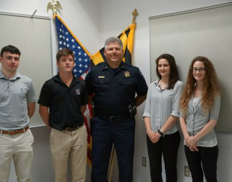 Interns Learn About Careers in Law Enforcement
