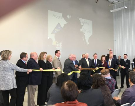 Dignitaries Open Incubator at Airport