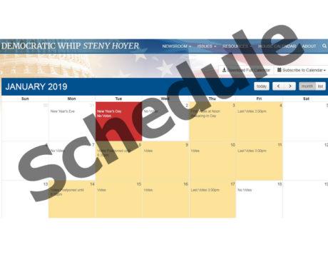 House Floor Schedule