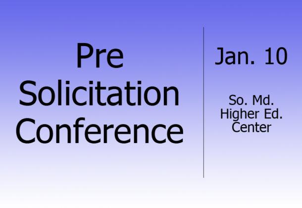 Pre-Solicitation Conference