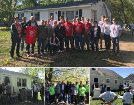 Hoyer Thanks Christmas in April Volunteers
