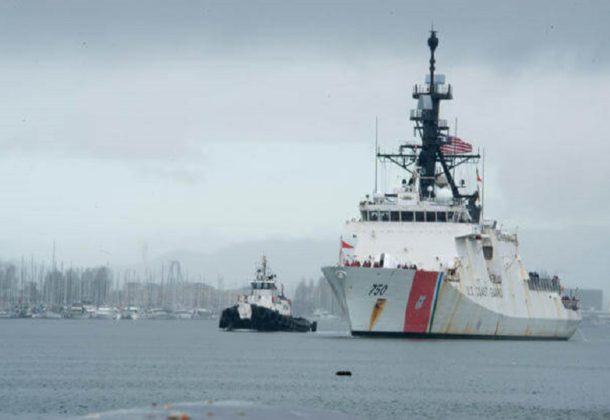 Coast Guard Cutter Performing Operations in Asia