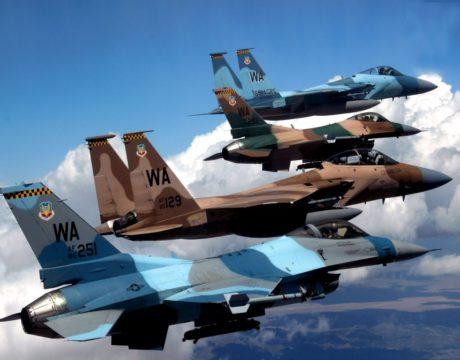 high-tech fighter aircraft